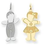 Cuddles boy and girl charms and pendants