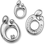 Mother and child pendants 14k white gold mother child pendants are available as mother and child mother and two children or mother and 3 children click on the design of interest for pricing mozeypictures Images