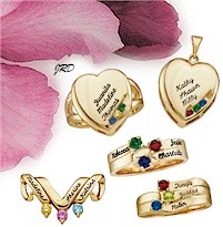 Mothers Rings And Family Custom Mother S Name At Mom Jewelry Box