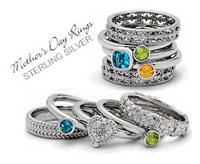 Stackable Mothers Birthstone Rings