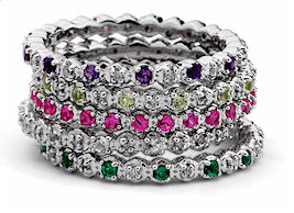 Mothers rings birthstones tiny diamonds eternity ring narrow eternity mothers rings with tiny diamond accents aloadofball Images