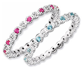 Mothers rings birthstones tiny diamonds eternity ring aloadofball Image collections